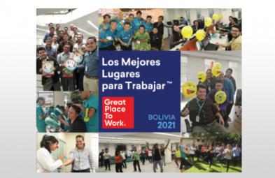 Red Enlace es reconocida y premiada como uno de Los Mejores Lugares Para Trabajar en Bolivia 2021